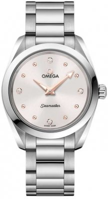 Buy this new Omega Aqua Terra 150m Quartz 28mm 220.10.28.60.54.001 ladies watch for the discount price of £1,872.00. UK Retailer.