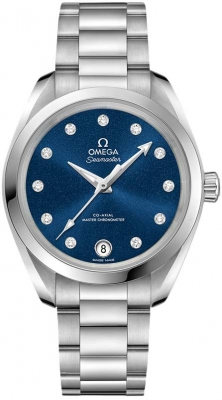 Buy this new Omega Aqua Terra 150m Master Co-Axial 34mm 220.10.34.20.53.001 ladies watch for the discount price of £4,248.00. UK Retailer.