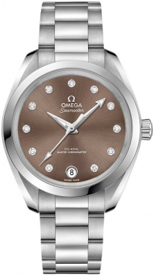 Buy this new Omega Aqua Terra 150m Master Co-Axial 34mm 220.10.34.20.63.001 ladies watch for the discount price of £5,103.00. UK Retailer.