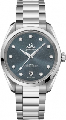 Buy this new Omega Aqua Terra 150M Co-Axial Master Chronometer 38mm 220.10.38.20.53.001 ladies watch for the discount price of £5,184.00. UK Retailer.