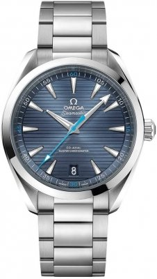 Buy this new Omega Aqua Terra 150M Co-Axial Master Chronometer 41mm 220.10.41.21.03.002 mens watch for the discount price of £3,672.00. UK Retailer.