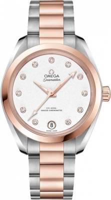 Buy this new Omega Aqua Terra 150m Master Co-Axial 34mm 220.20.34.20.52.001 ladies watch for the discount price of £7,308.00. UK Retailer.