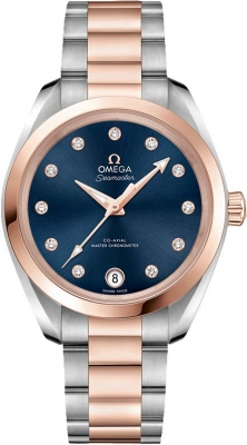 Buy this new Omega Aqua Terra 150m Master Co-Axial 34mm 220.20.34.20.53.001 ladies watch for the discount price of £7,308.00. UK Retailer.