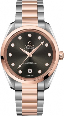 Buy this new Omega Aqua Terra 150M Co-Axial Master Chronometer 38mm 220.20.38.20.56.001 ladies watch for the discount price of £7,776.00. UK Retailer.