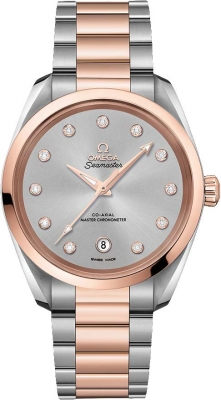 Buy this new Omega Aqua Terra 150M Co-Axial Master Chronometer 38mm 220.20.38.20.56.002 ladies watch for the discount price of £7,776.00. UK Retailer.