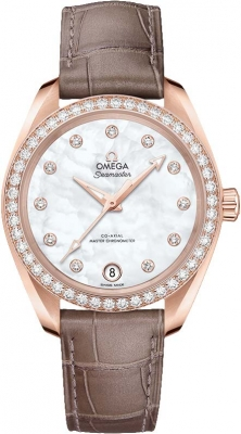 Buy this new Omega Aqua Terra 150m Master Co-Axial 34mm 220.58.34.20.55.001 ladies watch for the discount price of £14,184.00. UK Retailer.