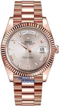 Rolex Day-Date 40mm Everose Gold 228235 Sundust Roman watch