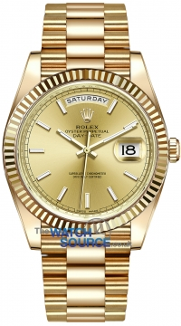 Rolex Day-Date 40mm Yellow Gold 228238 Champagne Index watch