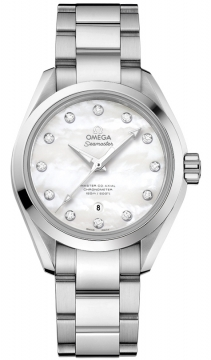 Buy this new Omega Aqua Terra 150m Master Co-Axial 34mm 231.10.34.20.55.002 ladies watch for the discount price of £4,536.00. UK Retailer.