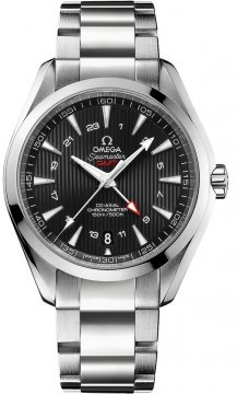 Omega Aqua Terra 150m GMT Mens watch, model number - 231.10.43.22.01.001, discount price of £4,255.00 from The Watch Source