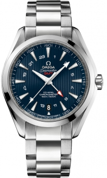 Omega Aqua Terra 150m GMT Mens watch, model number - 231.10.43.22.03.001, discount price of £4,484.00 from The Watch Source
