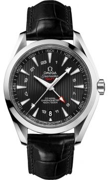 Buy this new Omega Aqua Terra 150m GMT 231.13.43.22.01.001 mens watch for the discount price of £4,680.00. UK Retailer.