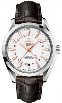 Omega Aqua Terra 150m GMT Mens watch, model number - 231.13.43.22.02.004, discount price of £4,680.00 from The Watch Source