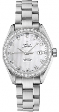Omega Aqua Terra Ladies Automatic 34mm Ladies watch, model number - 231.15.34.20.55.001, discount price of £7,992.00 from The Watch Source