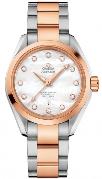 Buy this new Omega Aqua Terra 150m Master Co-Axial 34mm 231.20.34.20.55.001 ladies watch for the discount price of £7,416.00. UK Retailer.