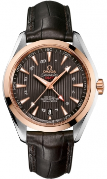 Buy this new Omega Aqua Terra 150m GMT 231.23.43.22.06.001 mens watch for the discount price of £6,300.00. UK Retailer.