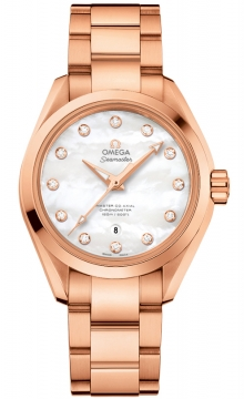 Buy this new Omega Aqua Terra 150m Master Co-Axial 34mm 231.50.34.20.55.001 ladies watch for the discount price of £18,144.00. UK Retailer.