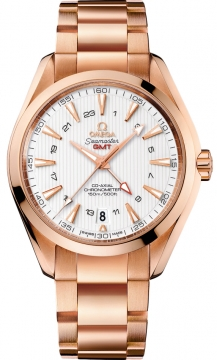 Buy this new Omega Aqua Terra 150m GMT 231.50.43.22.02.001 mens watch for the discount price of £21,564.00. UK Retailer.