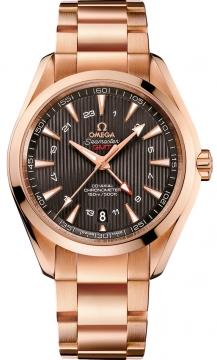 Omega Aqua Terra 150m GMT Mens watch, model number - 231.50.43.22.06.002, discount price of £21,564.00 from The Watch Source