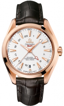 Omega Aqua Terra 150m GMT Mens watch, model number - 231.53.43.22.02.001, discount price of £12,996.00 from The Watch Source