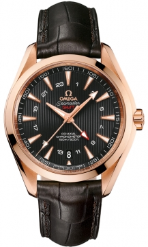 Omega Aqua Terra 150m GMT Mens watch, model number - 231.53.43.22.06.002, discount price of £12,996.00 from The Watch Source