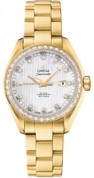 Omega Aqua Terra Ladies Automatic 34mm Ladies watch, model number - 231.55.34.20.55.001, discount price of £19,320.00 from The Watch Source