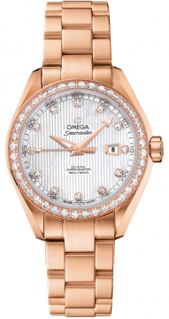 Omega Aqua Terra Ladies Automatic 34mm Ladies watch, model number - 231.55.34.20.55.002, discount price of £19,320.00 from The Watch Source