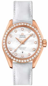 Buy this new Omega Aqua Terra 150m Master Co-Axial 34mm 231.58.34.20.55.003 ladies watch for the discount price of £14,040.00. UK Retailer.