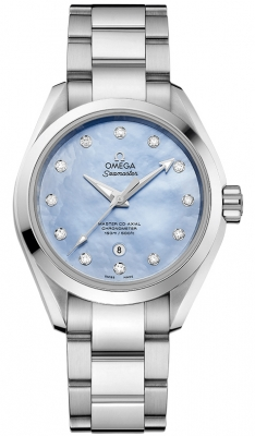Buy this new Omega Aqua Terra 150m Master Co-Axial 34mm 231.10.34.20.57.002 ladies watch for the discount price of £4,536.00. UK Retailer.