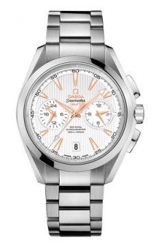 Buy this new Omega Aqua Terra 150m Co-Axial GMT Chronograph 43mm 231.10.43.52.02.001 mens watch for the discount price of £5,688.00. UK Retailer.