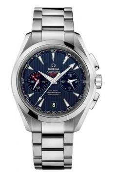 Buy this new Omega Aqua Terra 150m Co-Axial GMT Chronograph 43mm 231.10.43.52.03.001 mens watch for the discount price of £5,544.00. UK Retailer.