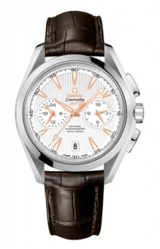 Omega Aqua Terra 150m Co-Axial GMT Chronograph 43mm Mens watch, model number - 231.13.43.52.02.001, discount price of £5,030.00 from The Watch Source