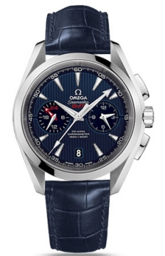Omega Aqua Terra 150m Co-Axial GMT Chronograph 43mm Mens watch, model number - 231.13.43.52.03.001, discount price of £4,900.00 from The Watch Source