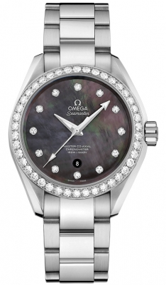 Buy this new Omega Aqua Terra 150m Master Co-Axial 34mm 231.15.34.20.57.001 ladies watch for the discount price of £8,280.00. UK Retailer.