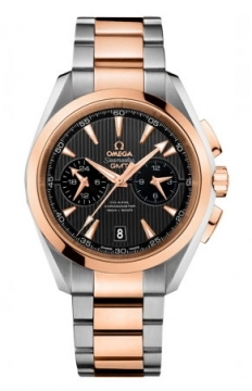 Omega Aqua Terra 150m Co-Axial GMT Chronograph 43mm Mens watch, model number - 231.20.43.52.06.001, discount price of £9,144.00 from The Watch Source