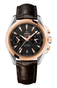 Omega Aqua Terra 150m Co-Axial GMT Chronograph 43mm Mens watch, model number - 231.23.43.52.06.001, discount price of £7,956.00 from The Watch Source