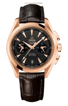 Omega Aqua Terra 150m Co-Axial GMT Chronograph 43mm Mens watch, model number - 231.53.43.52.06.001, discount price of £16,560.00 from The Watch Source