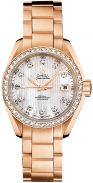 Omega Aqua Terra Ladies Automatic 30mm Ladies watch, model number - 231.55.30.20.55.001, discount price of £16,440.00 from The Watch Source