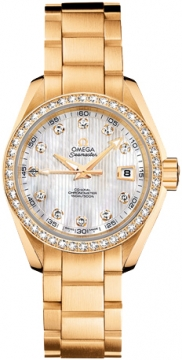 Omega Aqua Terra Ladies Automatic 30mm Ladies watch, model number - 231.55.30.20.55.002, discount price of £16,440.00 from The Watch Source