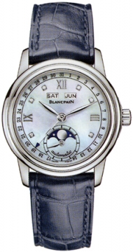 Blancpain Leman Ladies Moonphase & Complete Calendar 34mm Ladies watch, model number - 2360-1191a-55b, discount price of £7,437.00 from The Watch Source