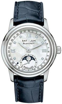 Blancpain Leman Ladies Moonphase & Complete Calendar 34mm 2360-1191a-55b watch