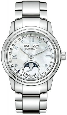 Blancpain Leman Ladies Moonphase & Complete Calendar 34mm Ladies watch, model number - 2360-1191a-71, discount price of £7,440.00 from The Watch Source
