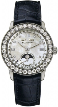 Blancpain Leman Ladies Moonphase & Complete Calendar 34mm Ladies watch, model number - 2360-1991a-55b, discount price of £16,872.00 from The Watch Source