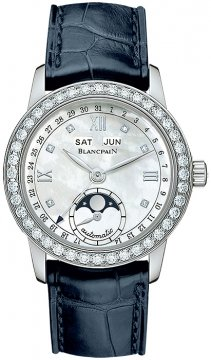 Blancpain Leman Ladies Moonphase & Complete Calendar 34mm 2360-4691a-55b watch