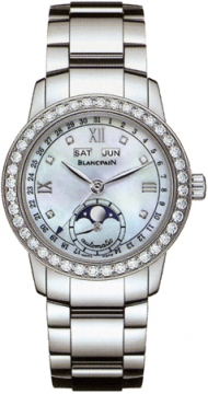 Blancpain Leman Ladies Moonphase & Complete Calendar 34mm Ladies watch, model number - 2360-4691a-71, discount price of £10,795.00 from The Watch Source