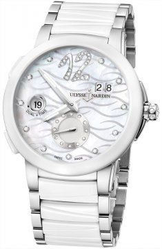 Ulysse Nardin Executive Dual Time Lady Ladies watch, model number - 243-10-7/691, discount price of £7,488.00 from The Watch Source