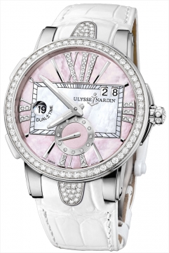 Ulysse Nardin Executive Dual Time Lady Ladies watch, model number - 243-10B/397, discount price of £12,652.00 from The Watch Source