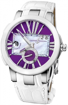 Ulysse Nardin Executive Dual Time Lady Ladies watch, model number - 243-10/30-07, discount price of £6,672.00 from The Watch Source