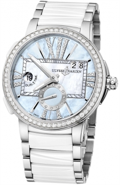 Ulysse Nardin Executive Dual Time Lady Ladies watch, model number - 243-10b-7/393, discount price of £13,472.00 from The Watch Source