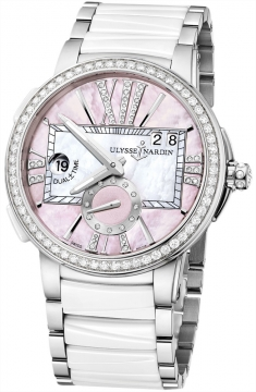 Ulysse Nardin Executive Dual Time Lady Ladies watch, model number - 243-10b-7/397, discount price of £11,887.00 from The Watch Source